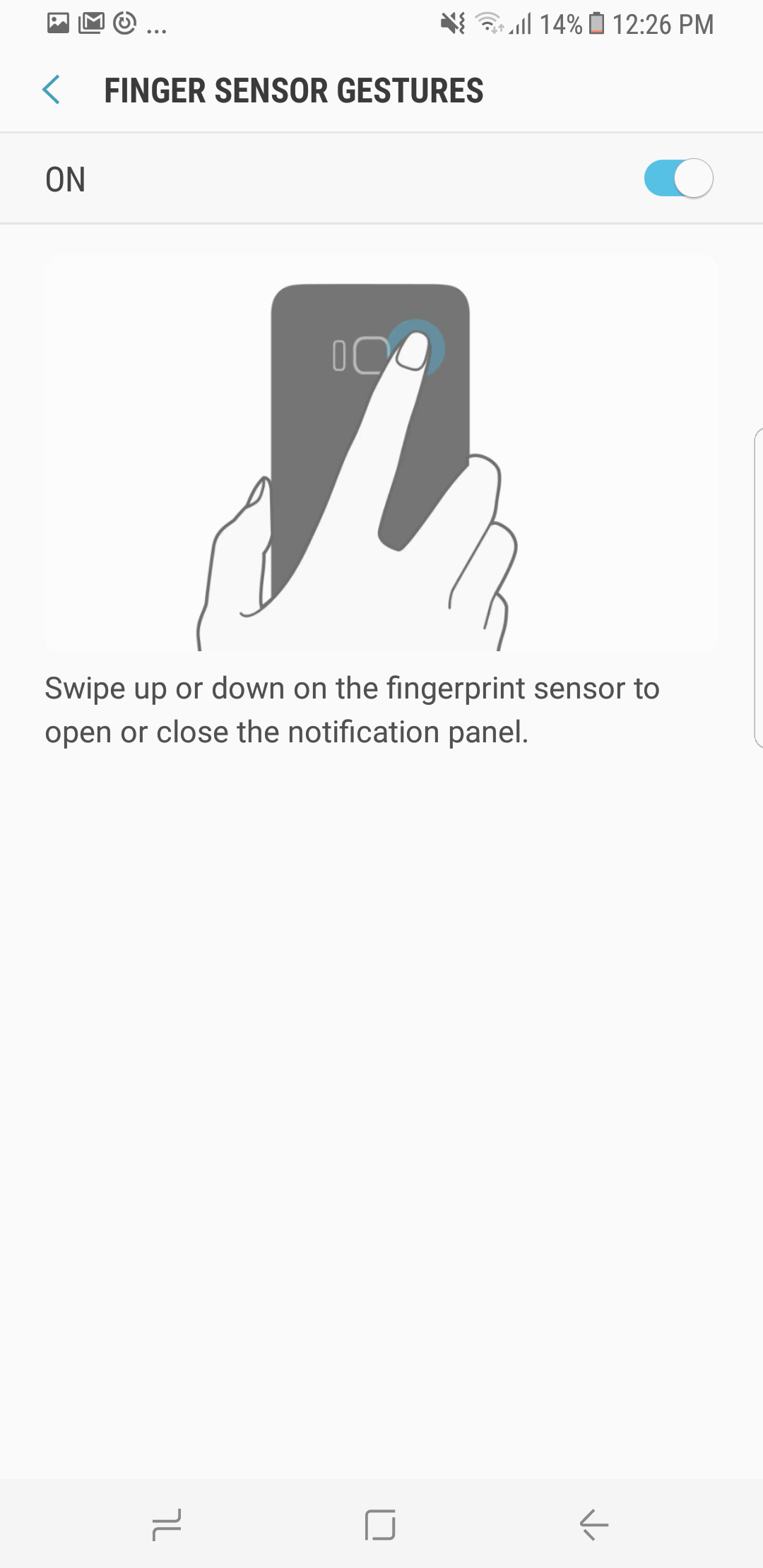 Galaxy S8 Tip: Use fingerprint sensor gestures to access the