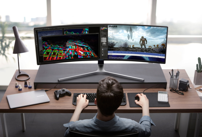 Samsung unveils three new swanky QLED gaming monitors with support