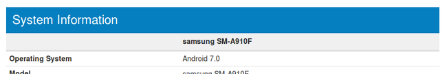 Samsung Galaxy A9 Pro Android 7.0 Nougat Update Geekbench