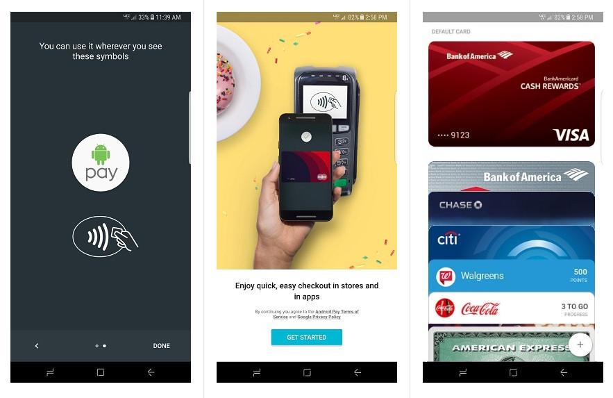 Samsung Galaxy S8 Plus Android Pay Support