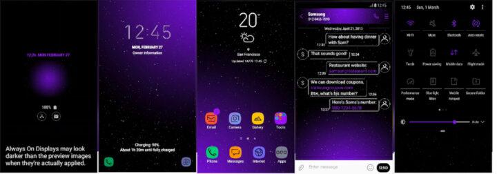 Samsung Galaxy Theme - [Anup] Infinity Black (AOD)