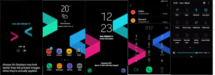 Samsung Galaxy Theme - [Anup] Novel Black (AOD)
