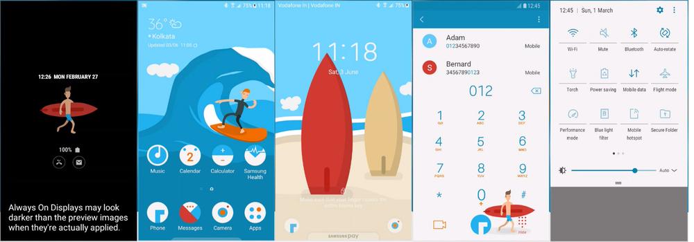 Samsung Galaxy Theme - [Binod] SurfBoardUI