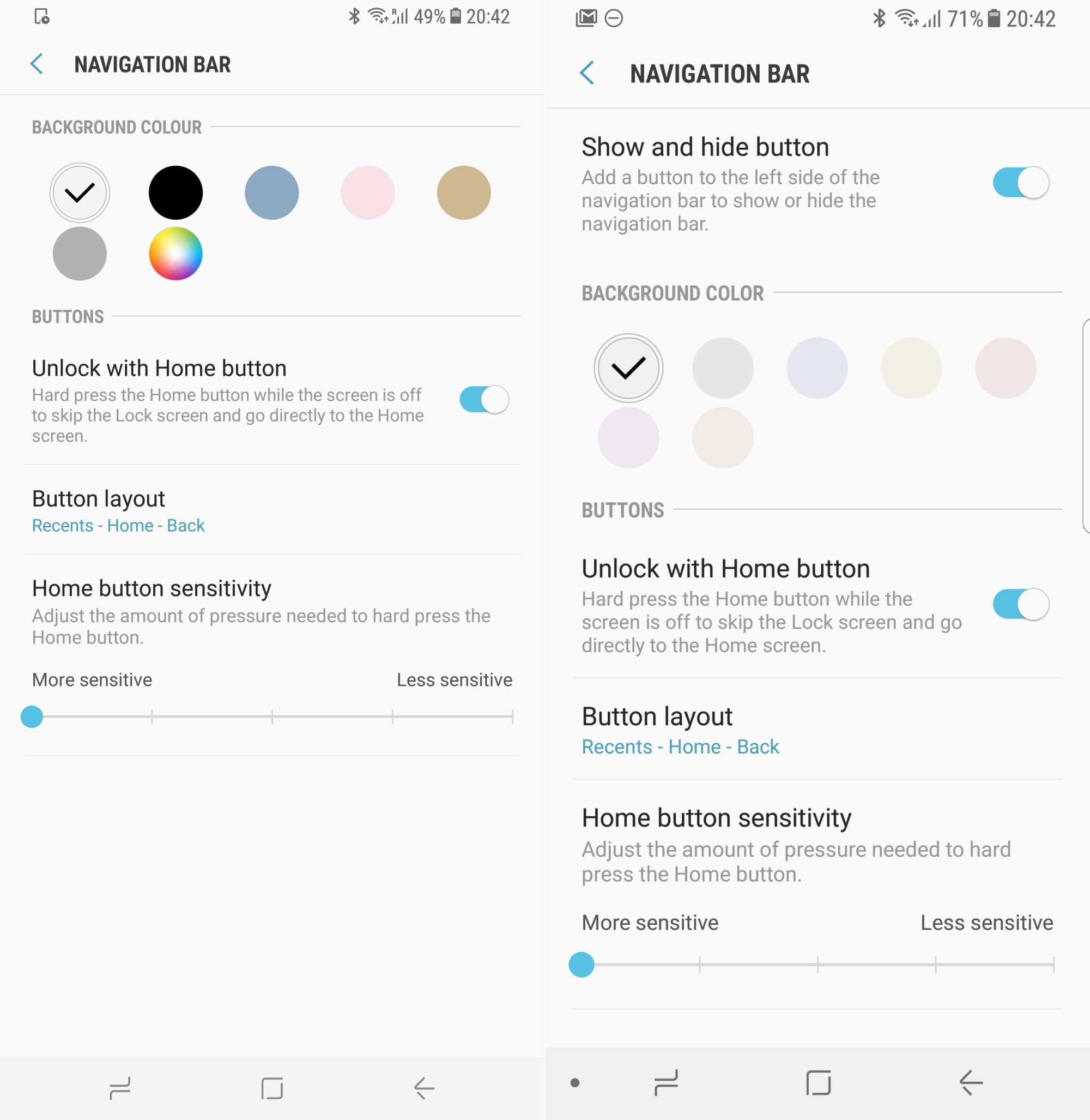 Latest update limits color options for Galaxy S8's