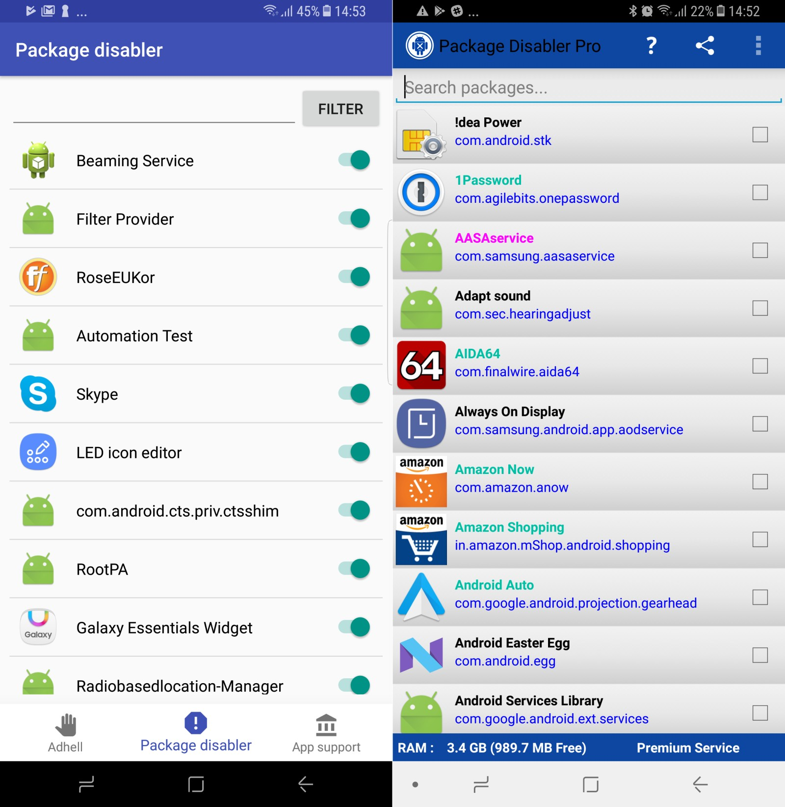 Use these apps to disable system apps on your Samsung phone