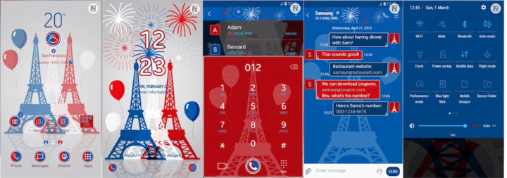 Samsung Galaxy Theme - Bastille Day Celebrations (Animated)