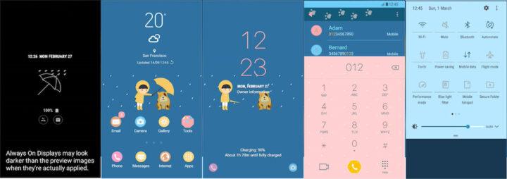 Samsung Galaxy Theme - Cute Raincoat (AOD:Iris) - THENEW