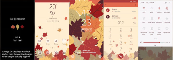 Samsung Galaxy Theme - [THENEW] Fallen Leaves (AOD:Iris)_ Lee Dhan