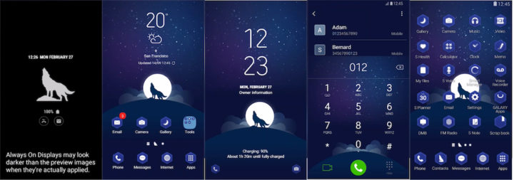 Samsung Galaxy Theme - Wolf