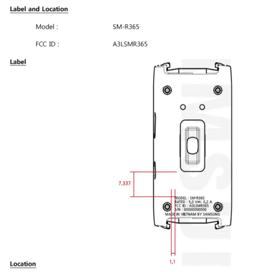 Samsung SM-R365 - FCC 01