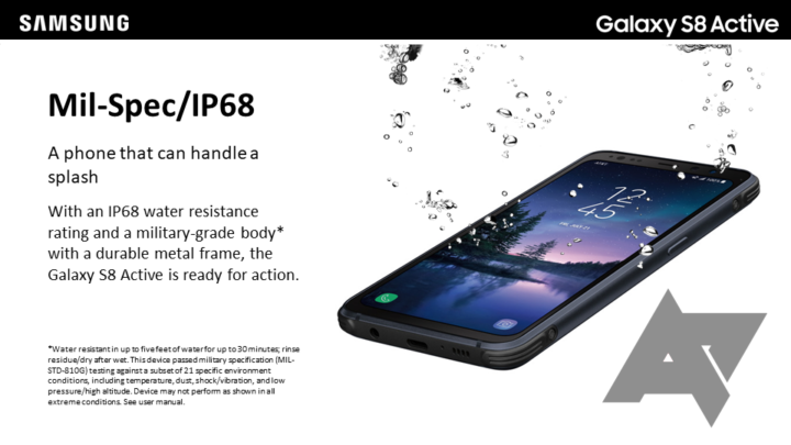 Galaxy S8 Active specs and official renders revealed via training manual