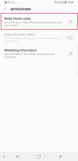 Galaxy S8 Tip: Disable Bixby notifications and reminders