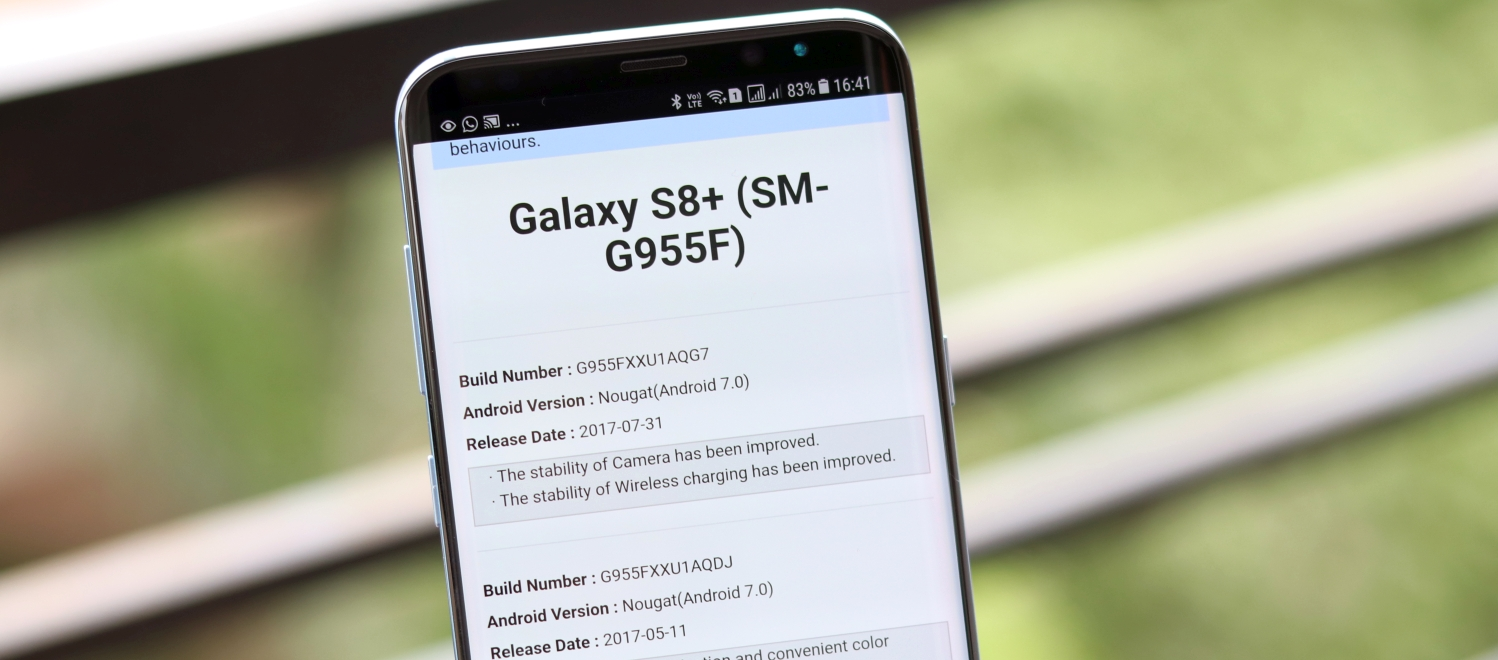 PSA: Samsung is maintaining a record of firmware update changelogs