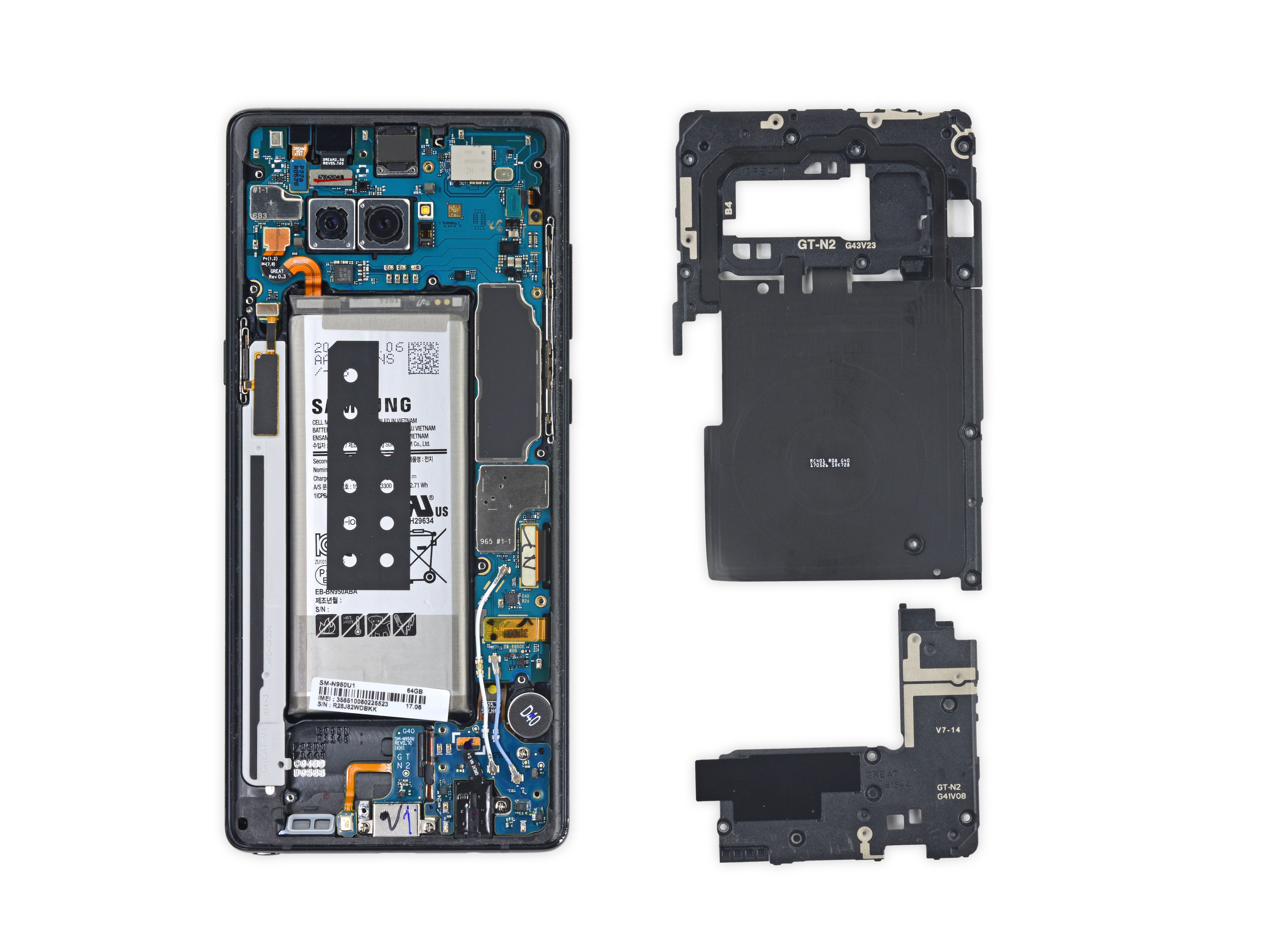 galaxy note 8 is going to be a nightmare to repair sammobile. Black Bedroom Furniture Sets. Home Design Ideas