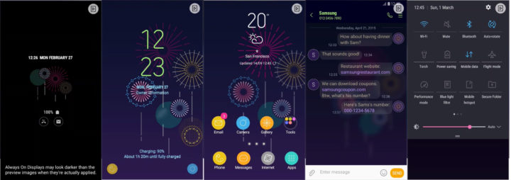 Samsung Galaxy Theme - Colorful Night & MOH (Live & AOD)