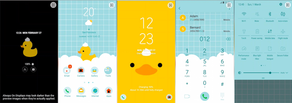 Samsung Galaxy Theme - Duck (AOD)