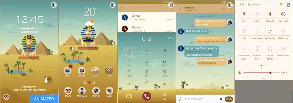 Samsung Galaxy Theme - Egypt _MINDON Design