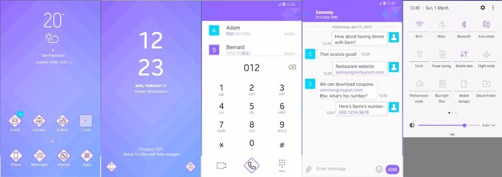 Samsung Galaxy Theme - [MINU] Diamond Purple Blue
