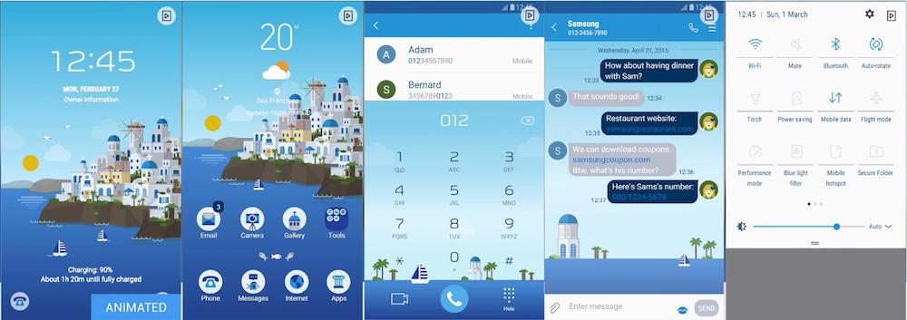 Samsung Galaxy Theme - Santorini _MINDON Design