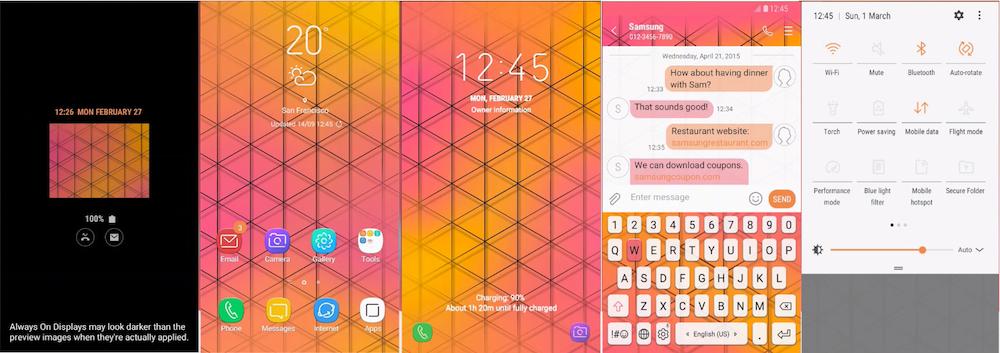 Samsung Galaxy Theme - [Walk On Mars] Orange Web