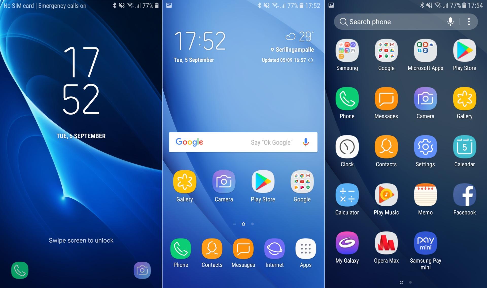 Screenshots Galaxy J5 And Galaxy J7 2016 Nougat With Samsung Experience Ux Sammobile