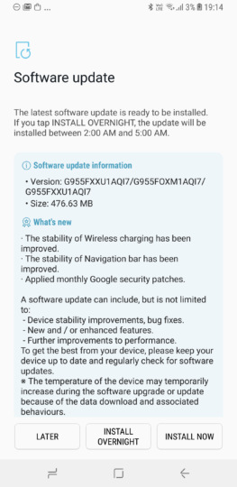 Latest Galaxy S8 update reaches India, brings BlueBorne fix