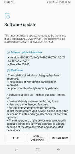 Latest Galaxy S8 update reaches India, brings BlueBorne fix