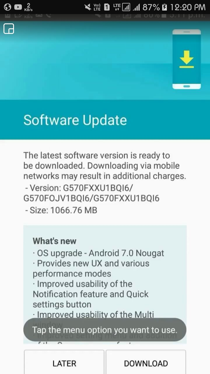 Update: Not quite] Android 7.0 Nougat update now arriving on the Galaxy J5  Prime in India - SamMobile - SamMobile