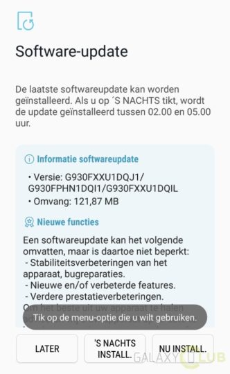 Galaxy S7 October security patch