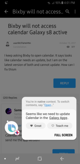 Bixby on Galaxy S8 Active