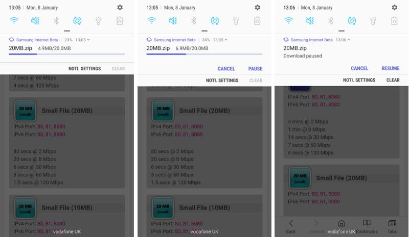 Latest Samsung Internet Beta