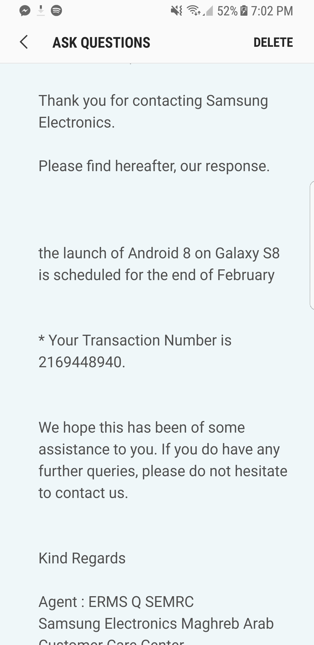 Galaxy S8 Oreo update scheduled for end of February for some