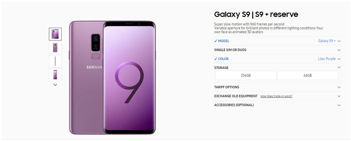 galaxy s9 and s9 256gb storage variant looks set to be. Black Bedroom Furniture Sets. Home Design Ideas