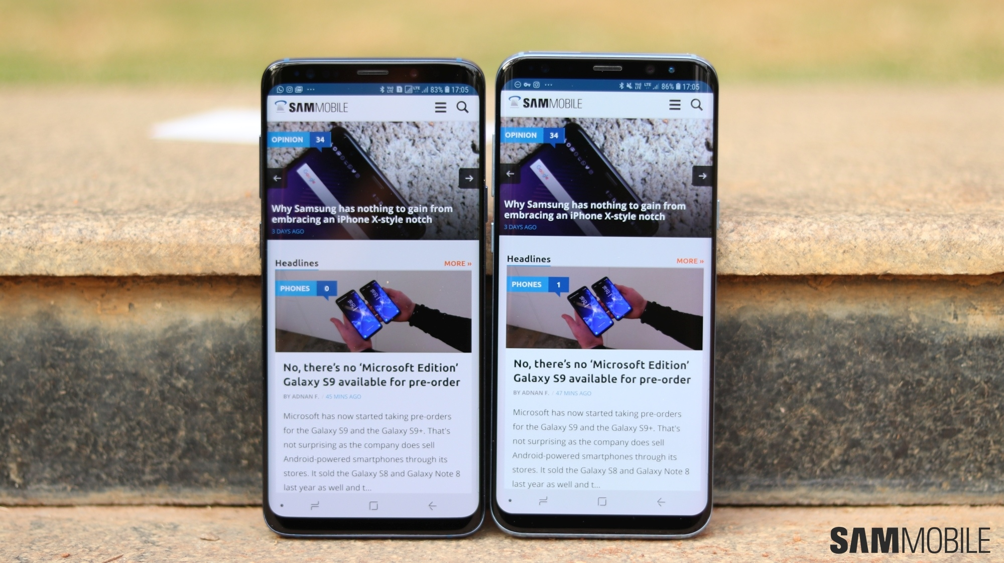 Samsung Galaxy S9 vs Galaxy S8: Side-by-side pictures