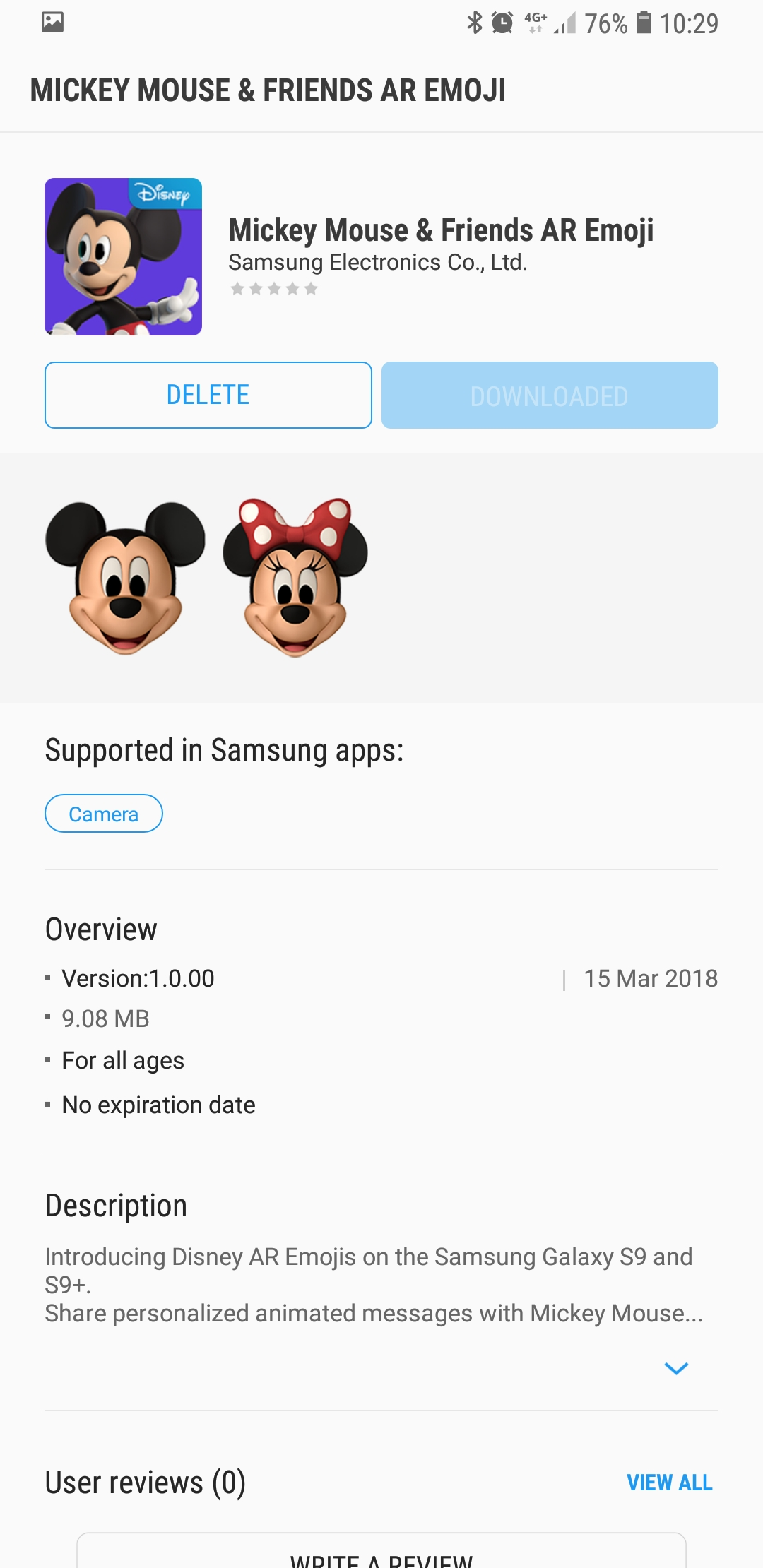 How to install Mickey and Minnie Mouse Disney AR Emoji on