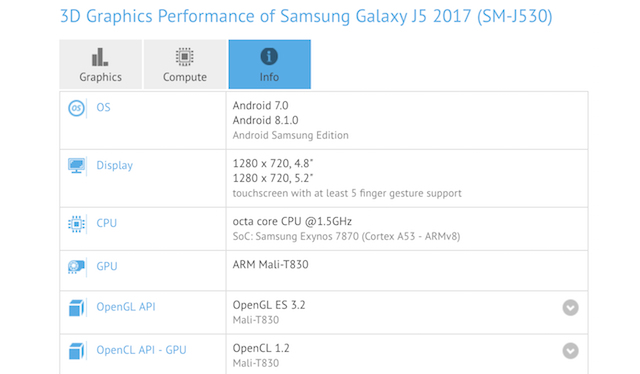 Galaxy J5 (2017) Oreo update may bump it straight to Android 8.1