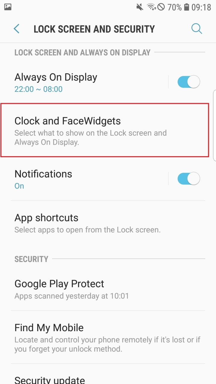 Night Clock has changed to Edge Clock with Galaxy S7 edge