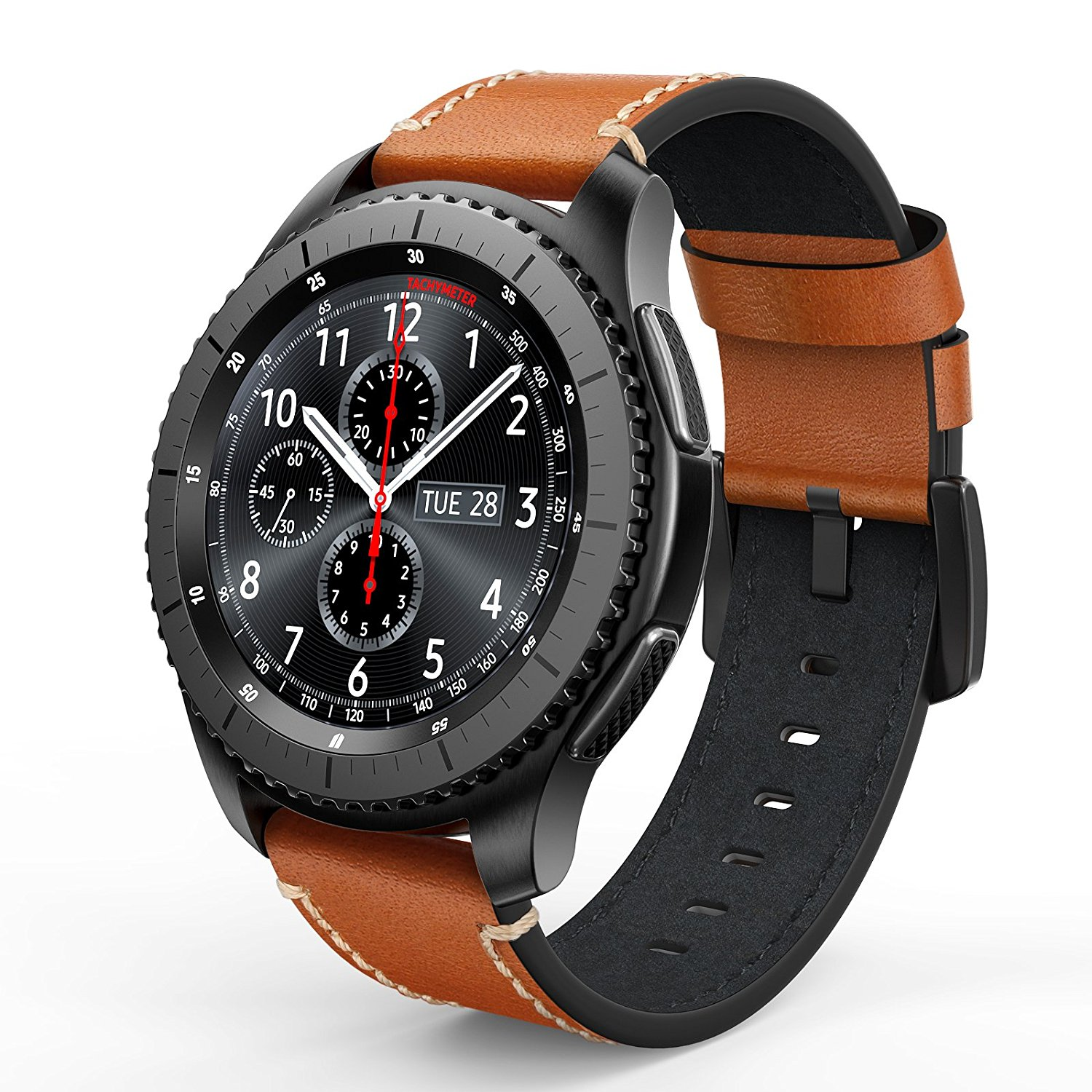 8588a91a7a4 Best bands for Gear S3 Frontier and Classic. Swees Genuine Leather Band