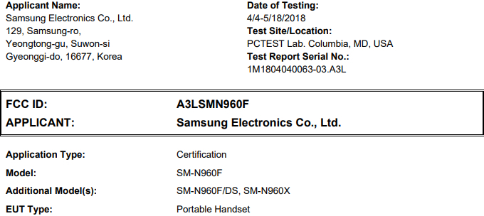 Galaxy Note 9 gets FCC approval as its rumored launch date approaches