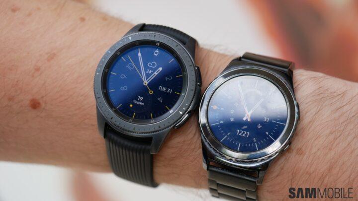 samsung galaxy watch vs samsung gear s2 in pictures