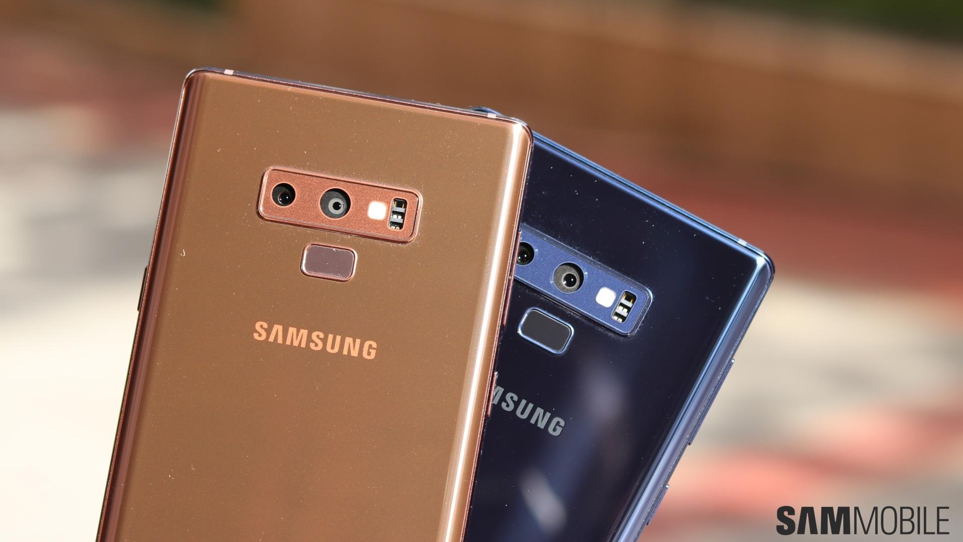 Color War Samsung Galaxy Note 9 Ocean Blue Vs Metallic Copper