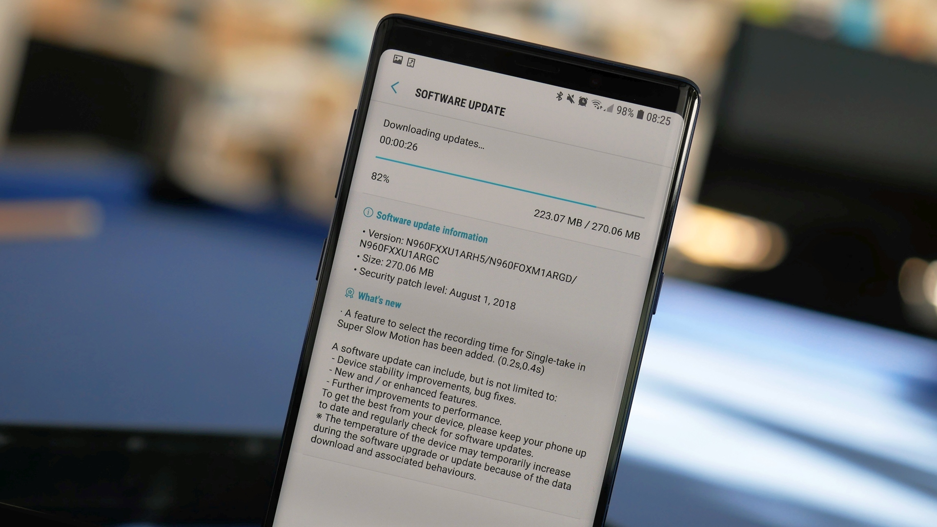 First Samsung Galaxy Note 9 update now rolling out - SamMobile