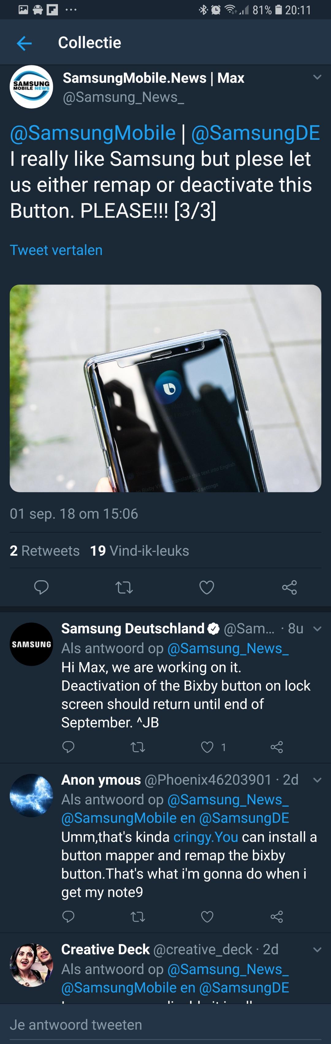 Bixby Galaxy Note 9