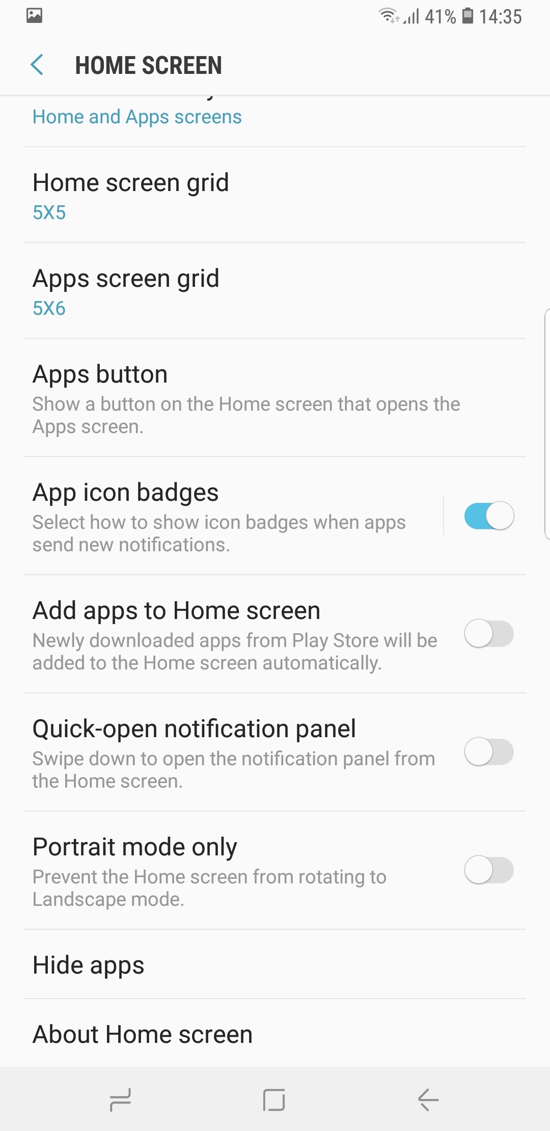 How to enable Galaxy Note 9 landscape home screen mode