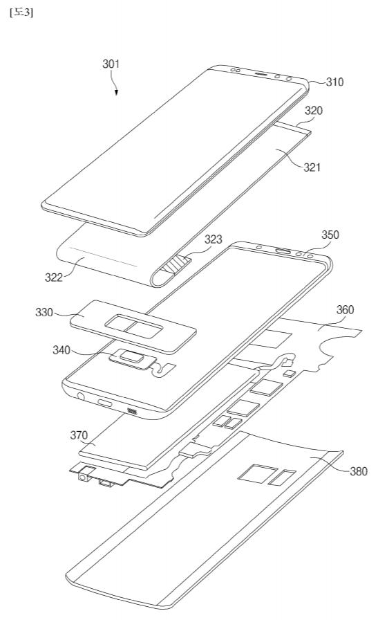 samsung patent optical fingerprint sensor galaxy s10