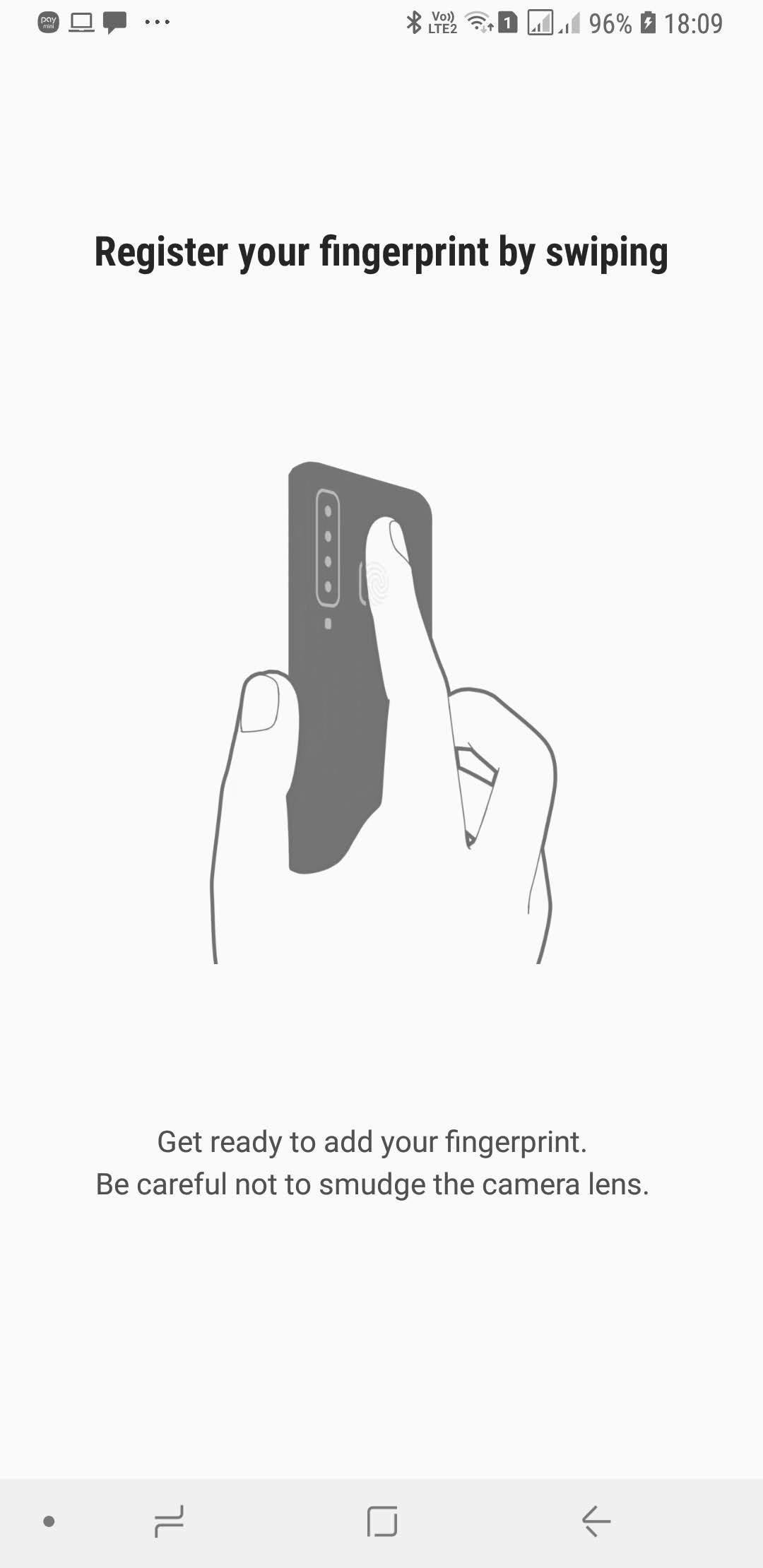 galaxy a9 2018 fingerprint sensor