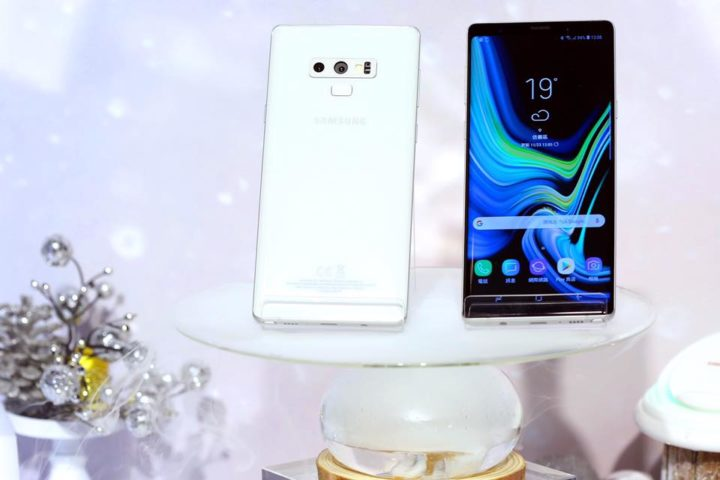 Galaxy Note 9 in white