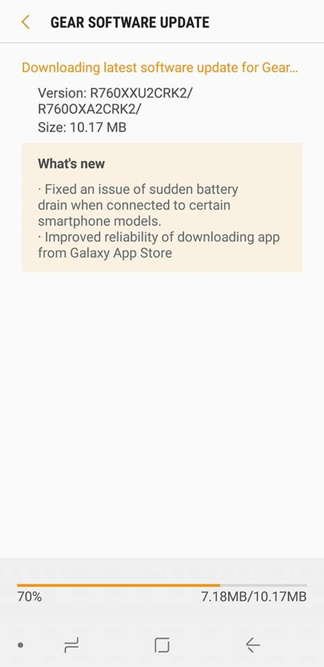 New Gear S3 update should fix the sudden battery drainage issue