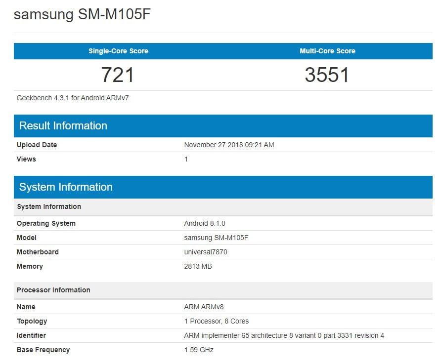 sm-m105f benchmark