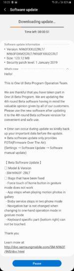 galaxy note 9 fourth pie beta update